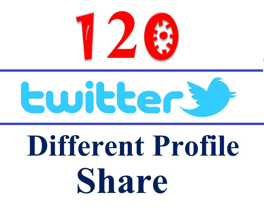Get Manual Penguin Safe 120 Different Twitter Profile Tweets / Shares / Bookmarks / Backlinks - Websites, Blogs, Videos, Etc.