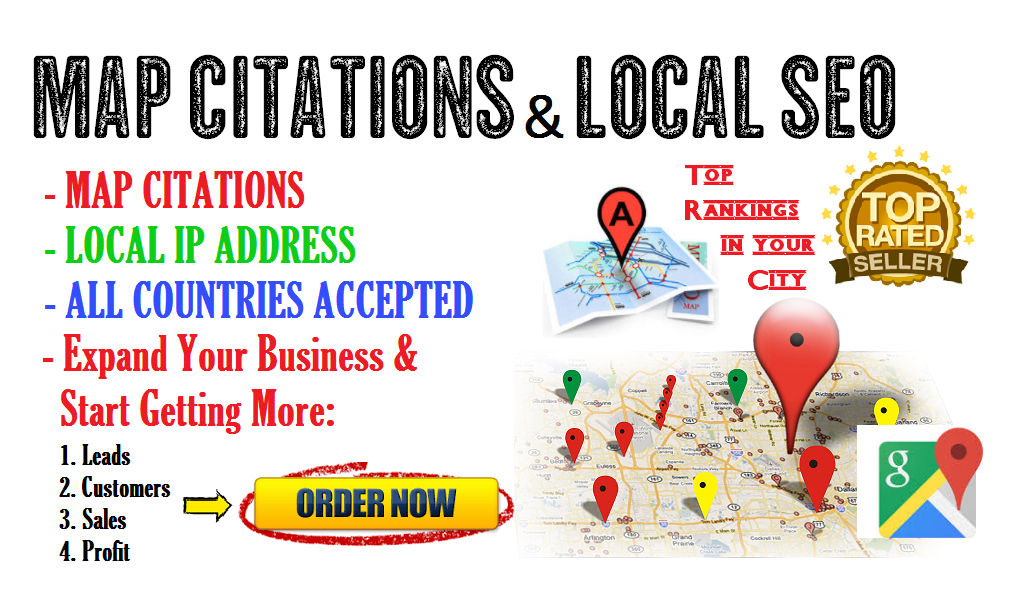 Do 90 Map Citations Or Local Listing For Your Business