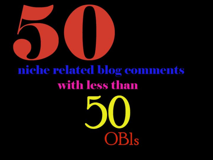 Provide 50 Unique niche related blog comment Hand Made Content for