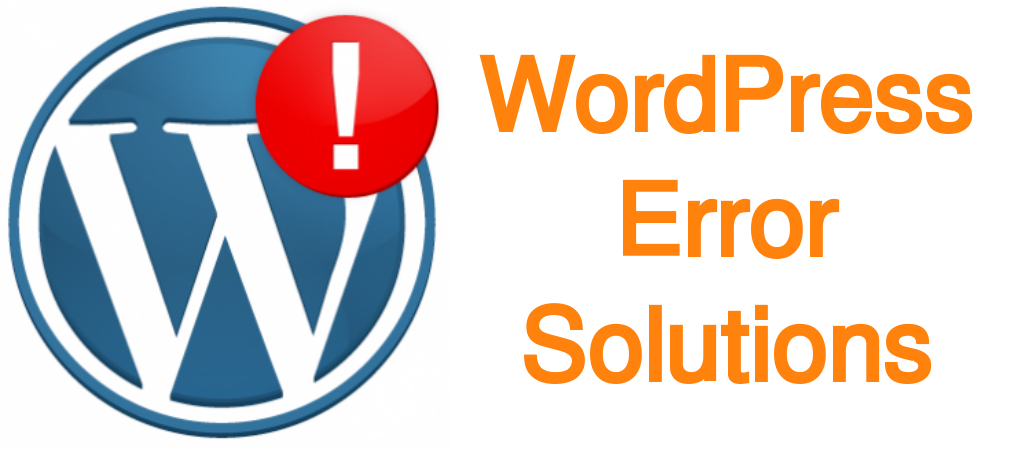 Fix any type of WordPress error