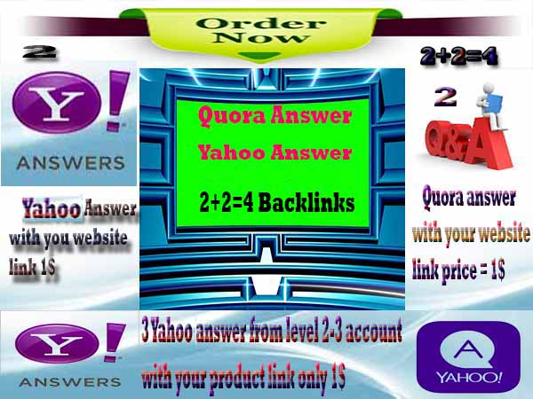 4 Answers Backlinks PR 9!! 4 Quora  with your Keyword and clickable backlinks