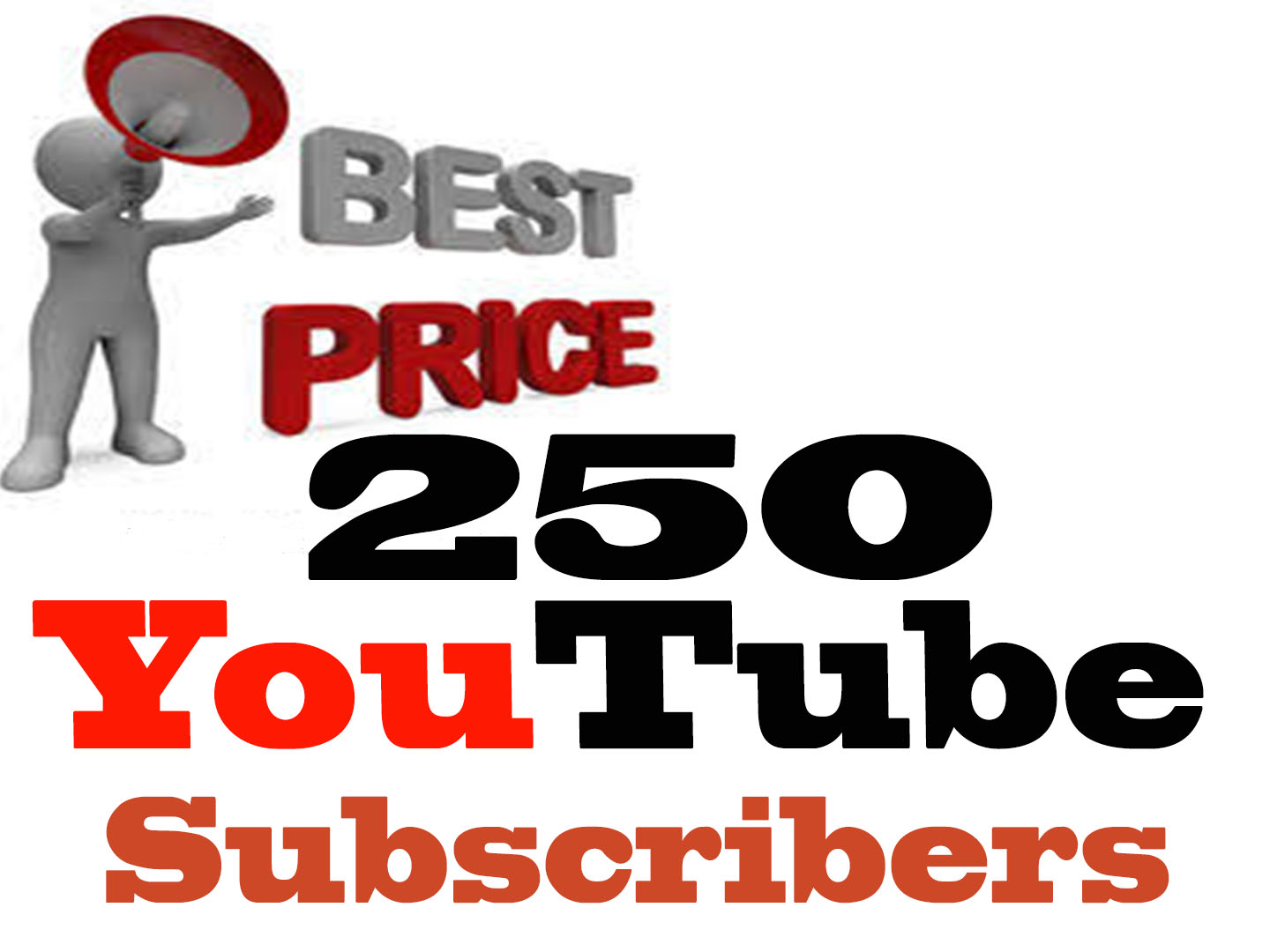 250 High Quality YouTube Subscribers With Fast Delivery