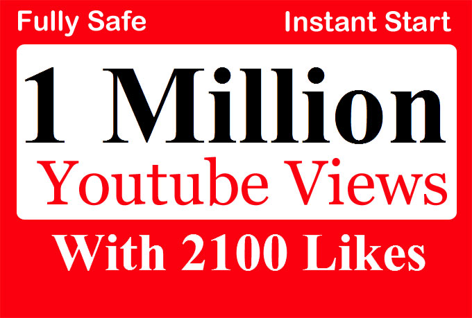 1 Million or 1000,000 YouTube Views with 10,000 Likes