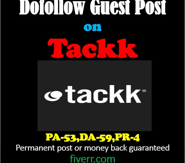 Dofollow Guest Post On Tackk