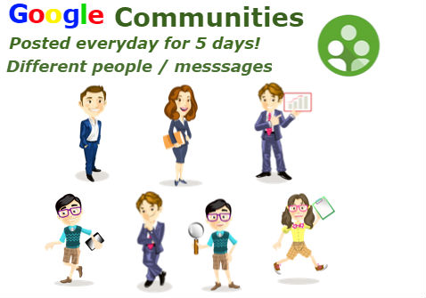 Post your website/messages to Google+ Communities for 1 Week