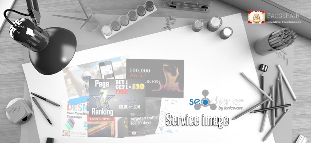 design a stunning Seoclerks service image