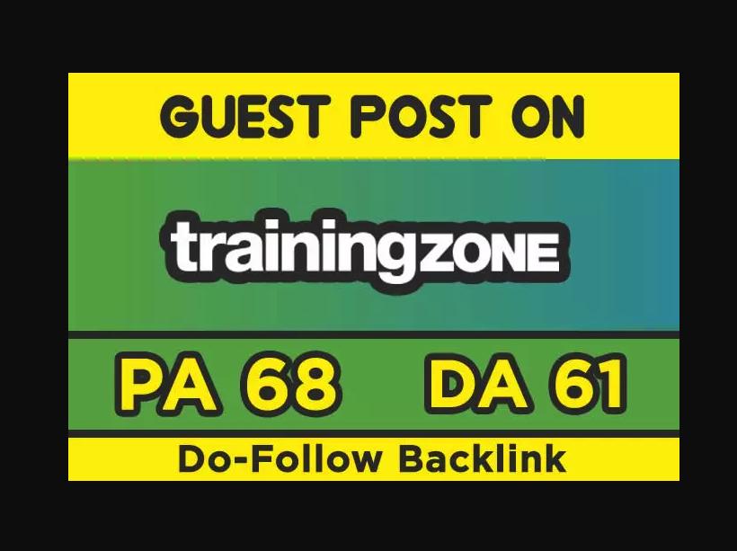 Publish Guest Post On Trainingzone DA58