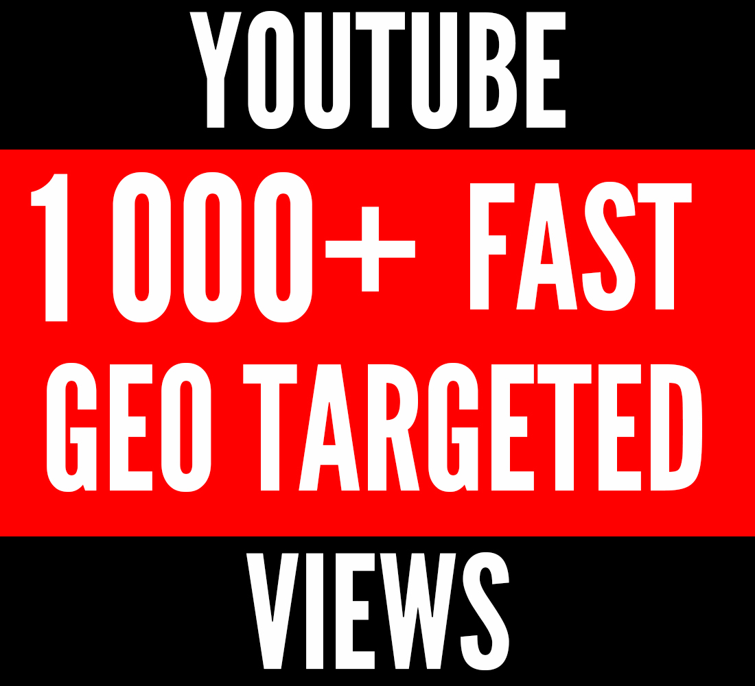 3 000+ and Geo Targeted Youtube shows