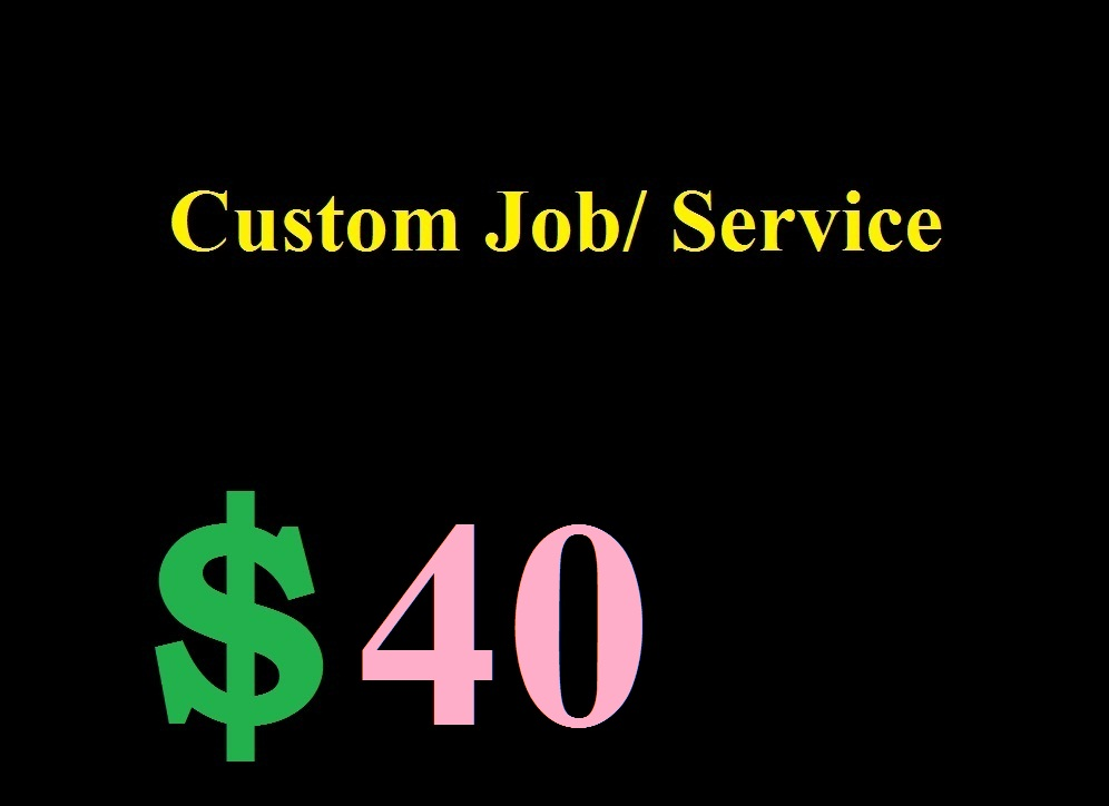 Custom Service Order For Personal Buyer