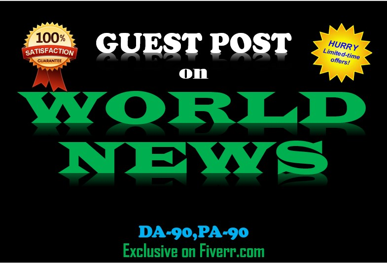 I Do Guest Post On World News(wn)  PR8