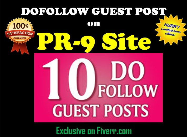 A Package Of Dofollow Guest Post On DA94 SIte
