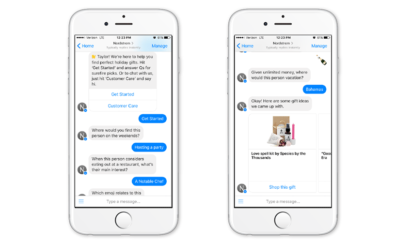will create a Messenger Chatbot
