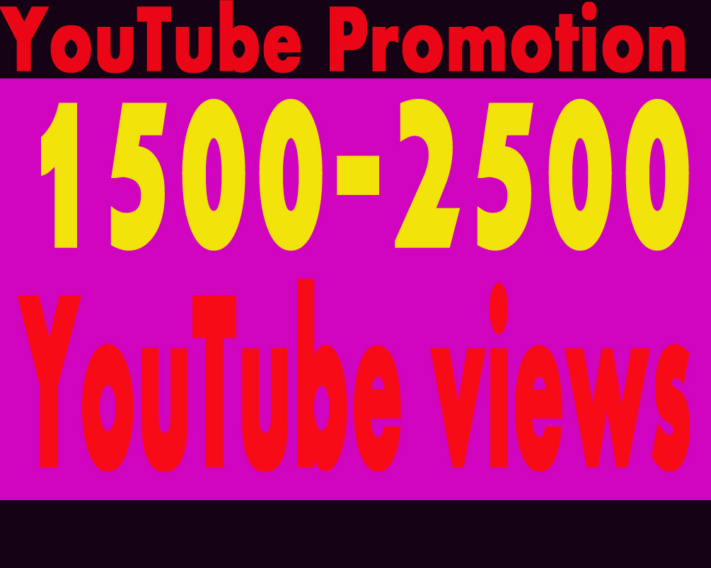 Package offer 3000-3500 YouTube vieews add 5 com-meents add 5 subs--cribers