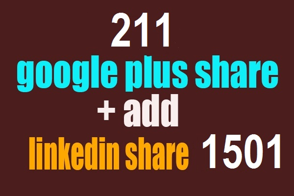 200 Google plus share signals  1501 LinkedIn. Share 100 pinterest top pack foronly  $3