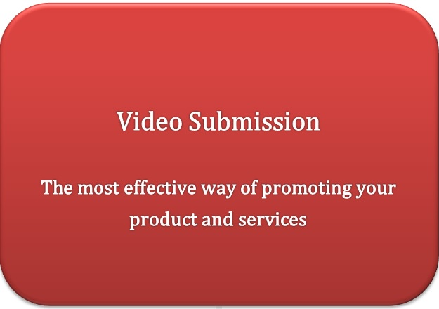 Do manual video submission of video in 10 high PR sites