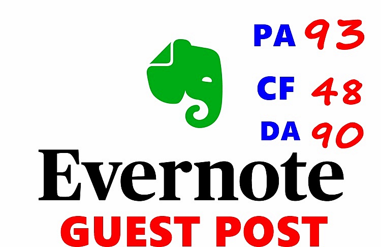Evernote Cheap GUEST POST -Submit Permanent Quality Post - GUARANTEED Service