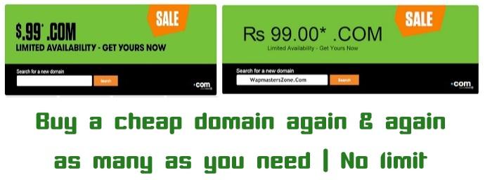 Cheap Domain : buy again and again : No limits
