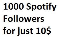 Get 1000 Spotify Followers