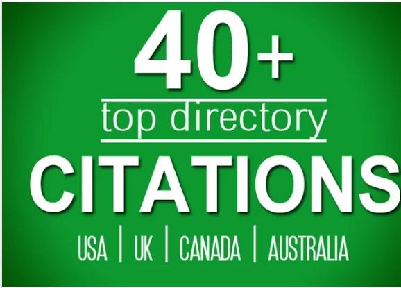 Do 40 Directory Citations For Usa, Uk, Canada Local Seo