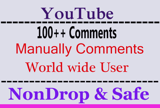 100 Real YouTube video Comments with extra service 2k 3k 4k 5k 6k 7k 8k 9k Or 2000 3000 4000 5000 6000 7000 8000 9000 youtube Video Views