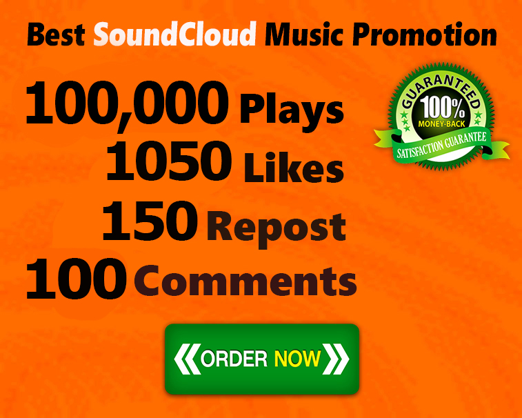 100,000 Plays 1050 Likes 150 Repost 100 Comments