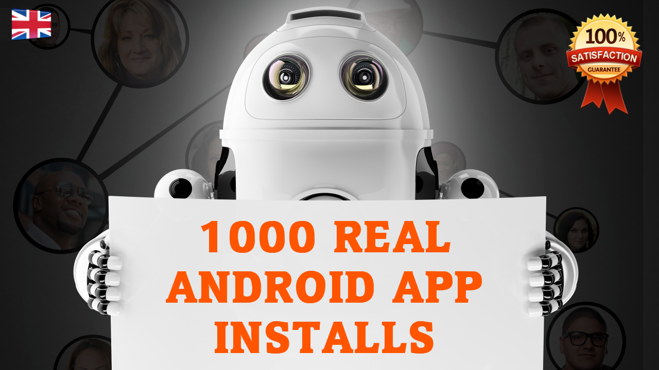 1000+ Real Android App Installs
