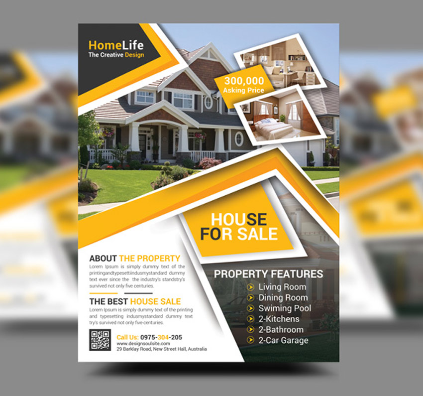 Design an elegant and great looking flyer, leaflet and poster