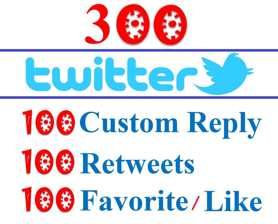 Manual Twitter Post- 100 Reply or Custom Comments + 100 Share + 100 Like For Twitter Profile Post URL - All Real Profile User