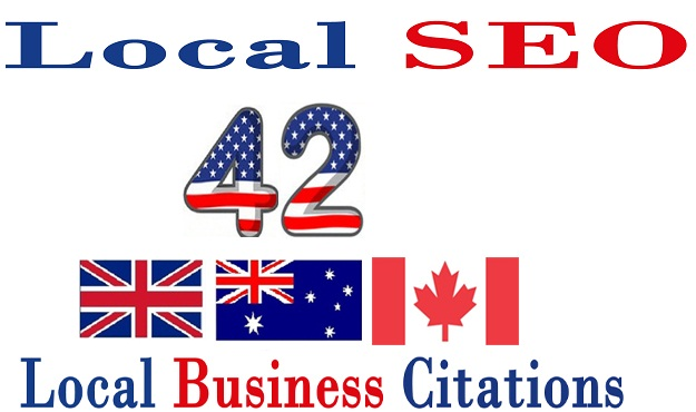 Create 42 UK/Canada/Australia USA Live Local CITATION for Local SEO