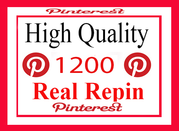 1200 Real And High Repin Pinterest Social Signals