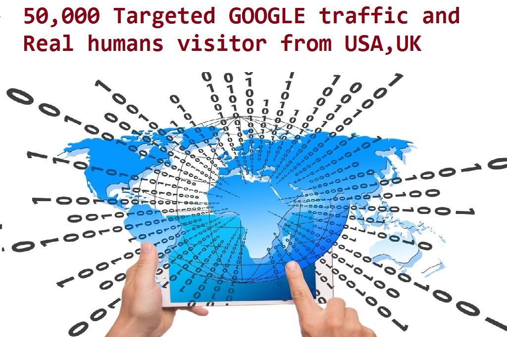 50,000 Targeted GOOGLE traffic and Real humans visitor from USA,UK etc