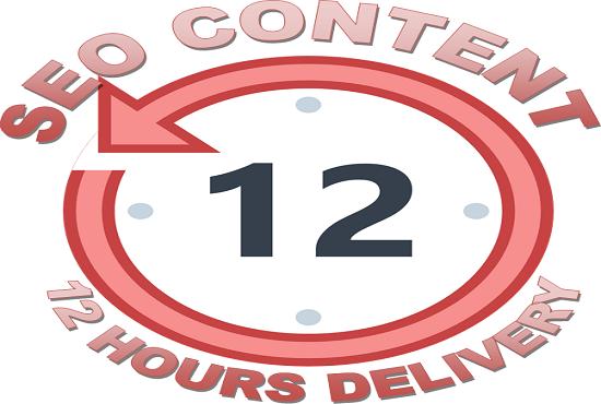 Write 500 word SEO Optimized Article Writing,  Blog Writing in 12 Hours
