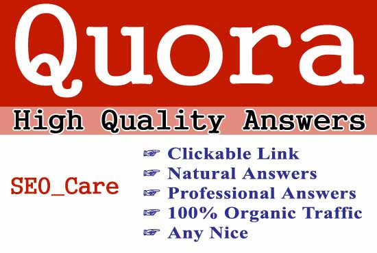 Promote your website with 20 Quora answers