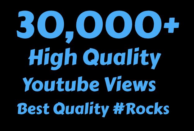 I will Add 30,000 High Quality You tube vi'ews