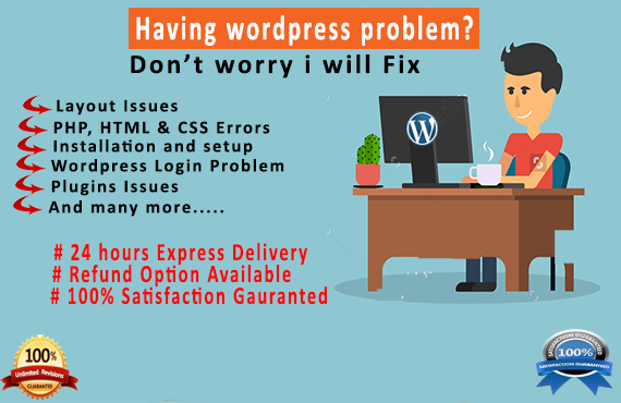 Fix Wordpress Issues, Errors and complete Site Audit in 24 hrs