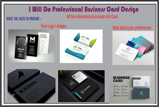 Design Professional  single sided Business Card