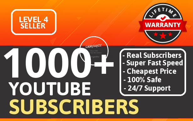 Get 1000+ Real YouTube Subscribers With Lifetime Guarantee NON DROP