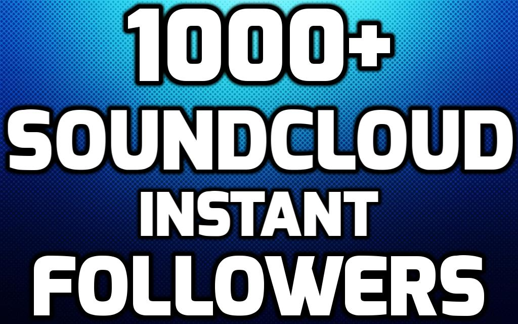 In this Package You Will Get Instant 1000+ SoundCloud Real USA Followers To your Account