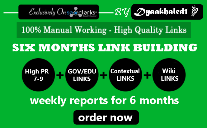 Create Manually 30 HQ Backlinks For 6 Months Weekly Reports