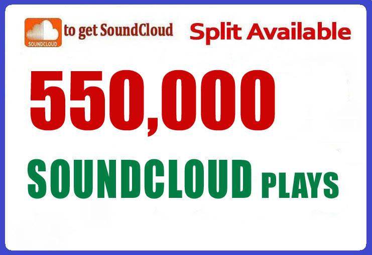 550,000 Soundcloud Plays