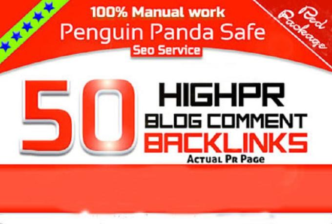 do 50 high PR blog comment backlink
