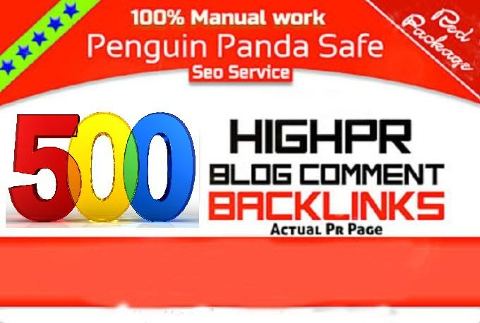 do 500 quality blog comments for high traffic SEO