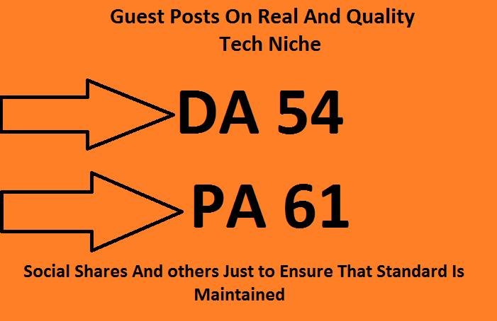 Guest Posting On Quality Da 54 Tech Blog