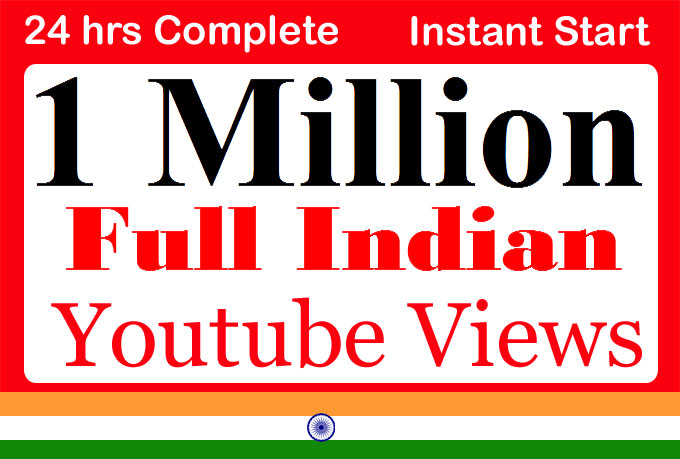 1 Million or 1000,000 Indian YouTube Views