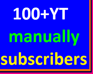 100+YouTube channel subscribers non drop