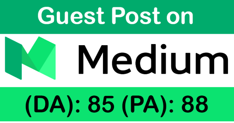 Publish a guest post on Medium. Com with 2 Back Links DA 85, PA 88, PR 8