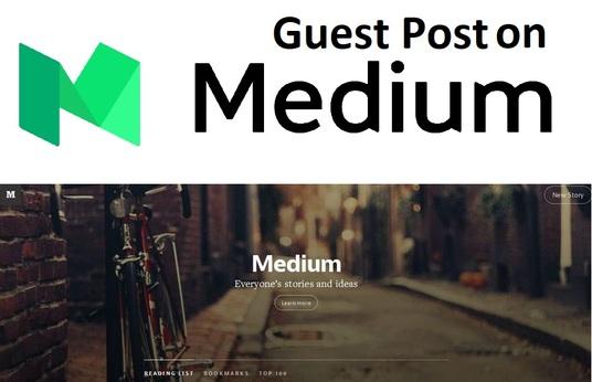 Publish a guest post on Medium. Com with DA 85, PA 88, PR 8