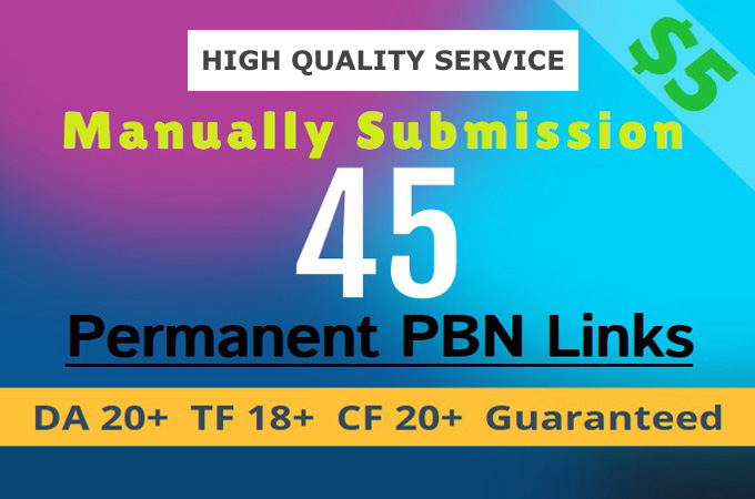 publish high quality 45 permanent PBN post on my website completely manually