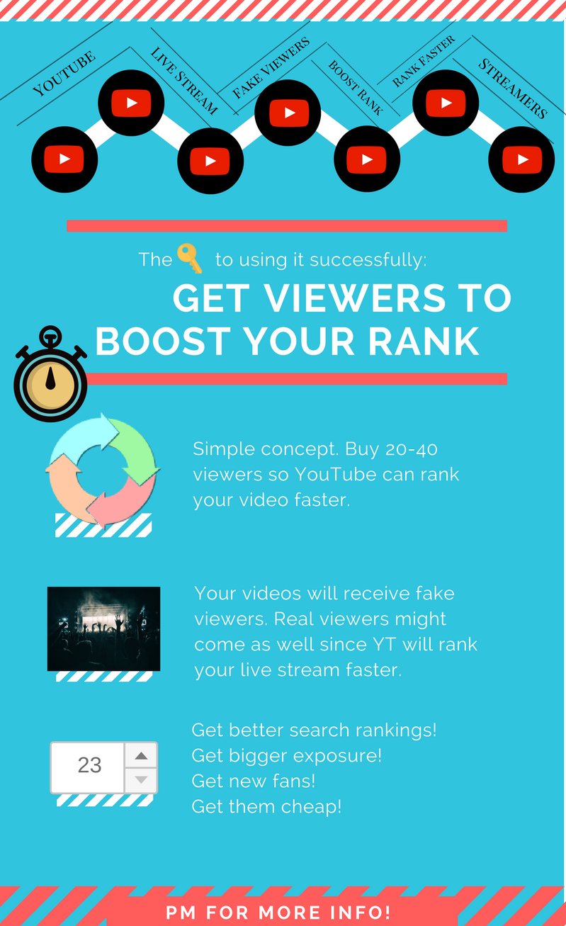 Live Stream Viewers YouTube , Rank your YT live stream