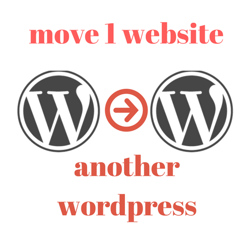 i'll move your wordpress site to another wordpress site(migration)
